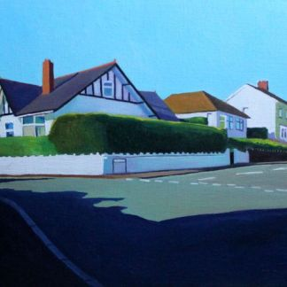 Painting of 1930s house in Swansea Wales