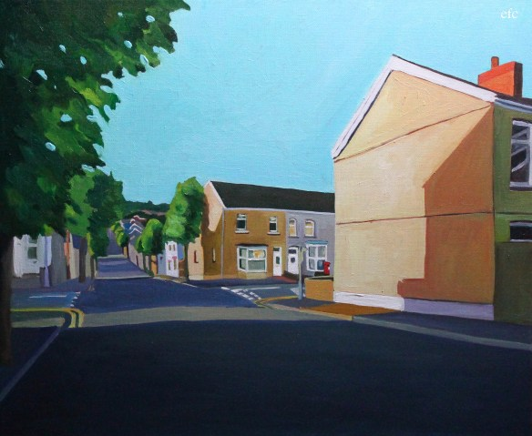 Painting of Brynmill, swansea
