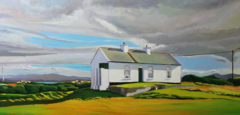 Painting of Donegal. Arranmore.