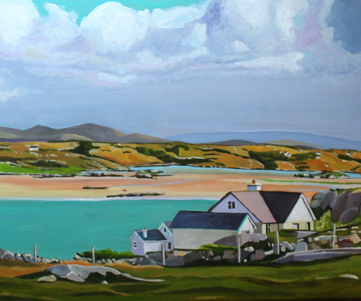 Painting of house in Donegal, Ireland