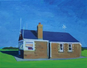 Painting of Gower, Rhossili Coastwatch station_EmmaCownie
