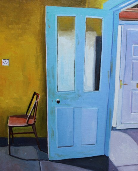 Painting of Donegal Cottage Interior