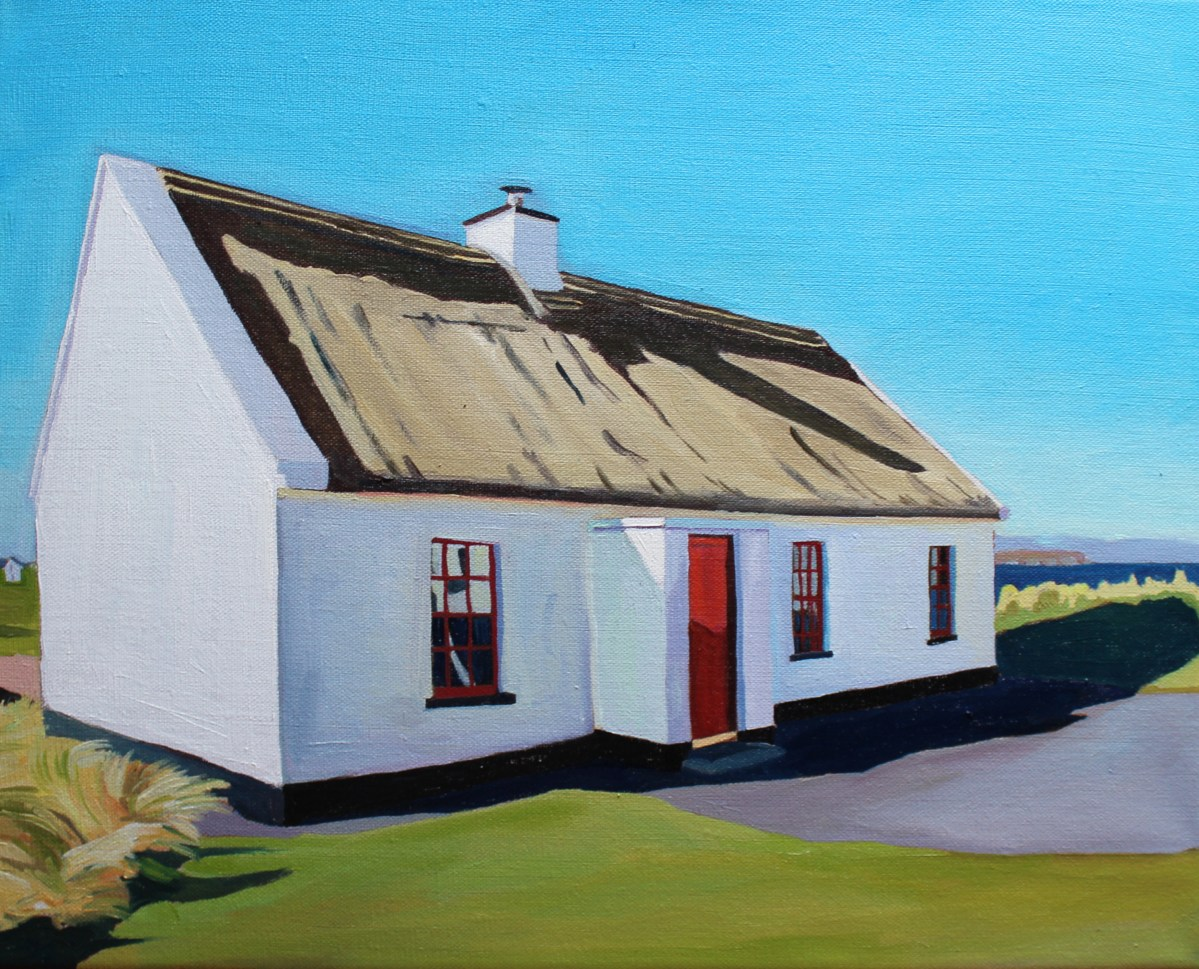 Donegal Thatched Cottage Painting