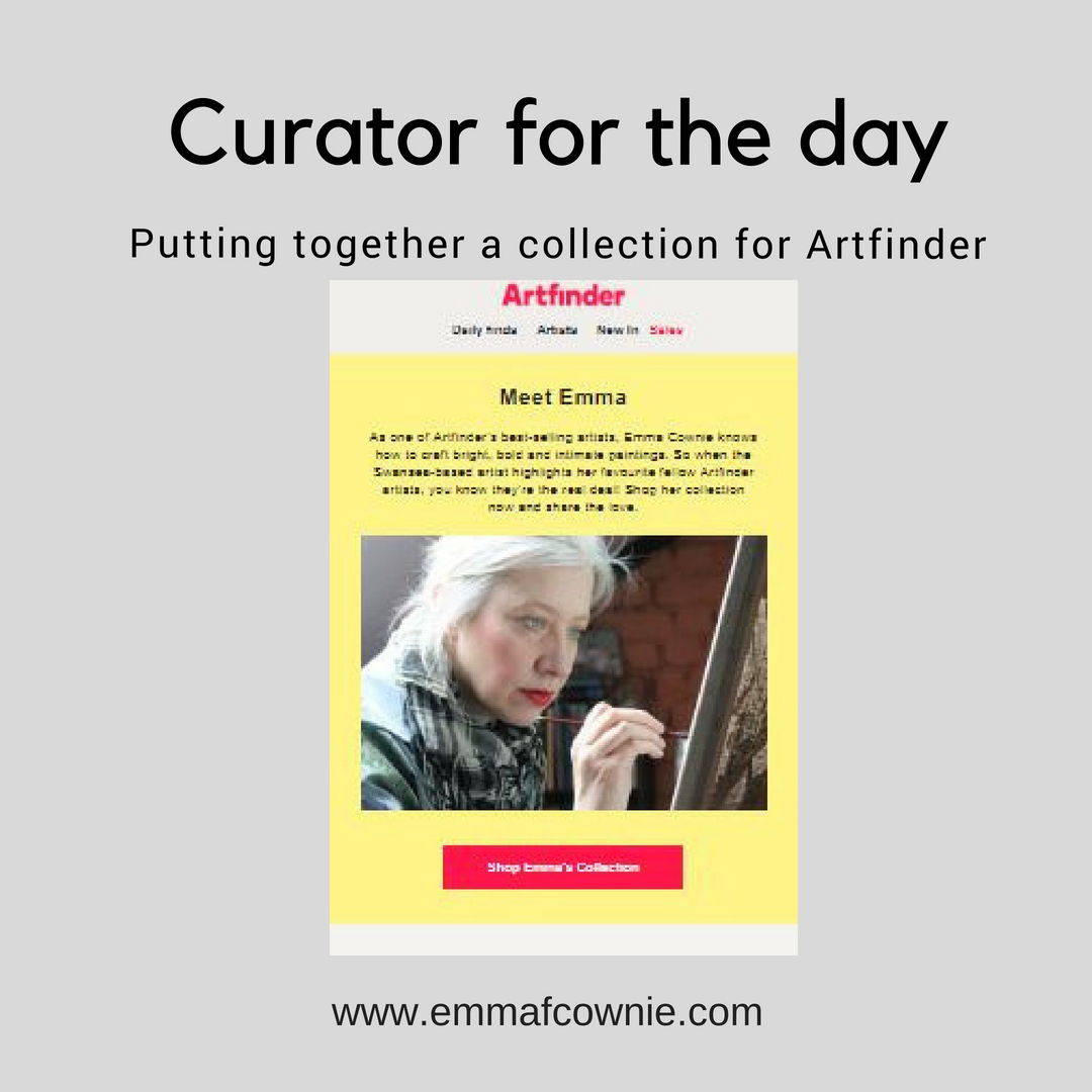 Curator for the day: Putting together a collection for Artfinder