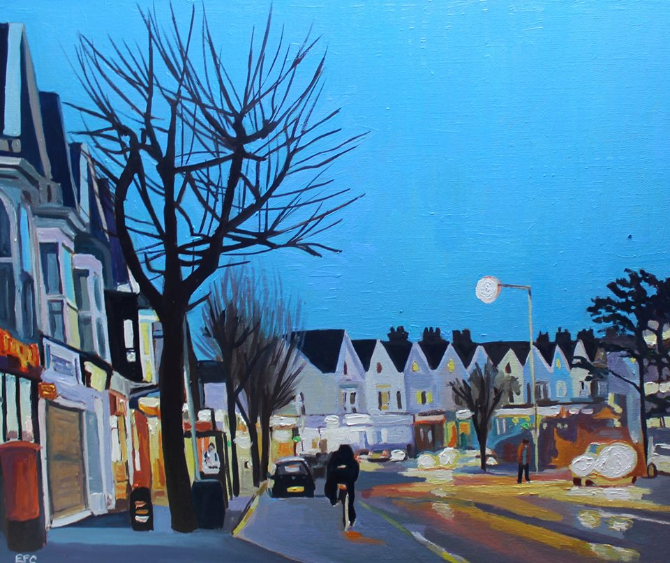 Painting of Swansea street
