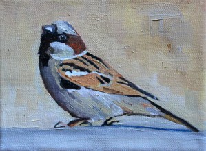 painting of a sparrow