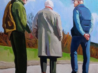 Painting of old men in the sunshine_EmmaCownie