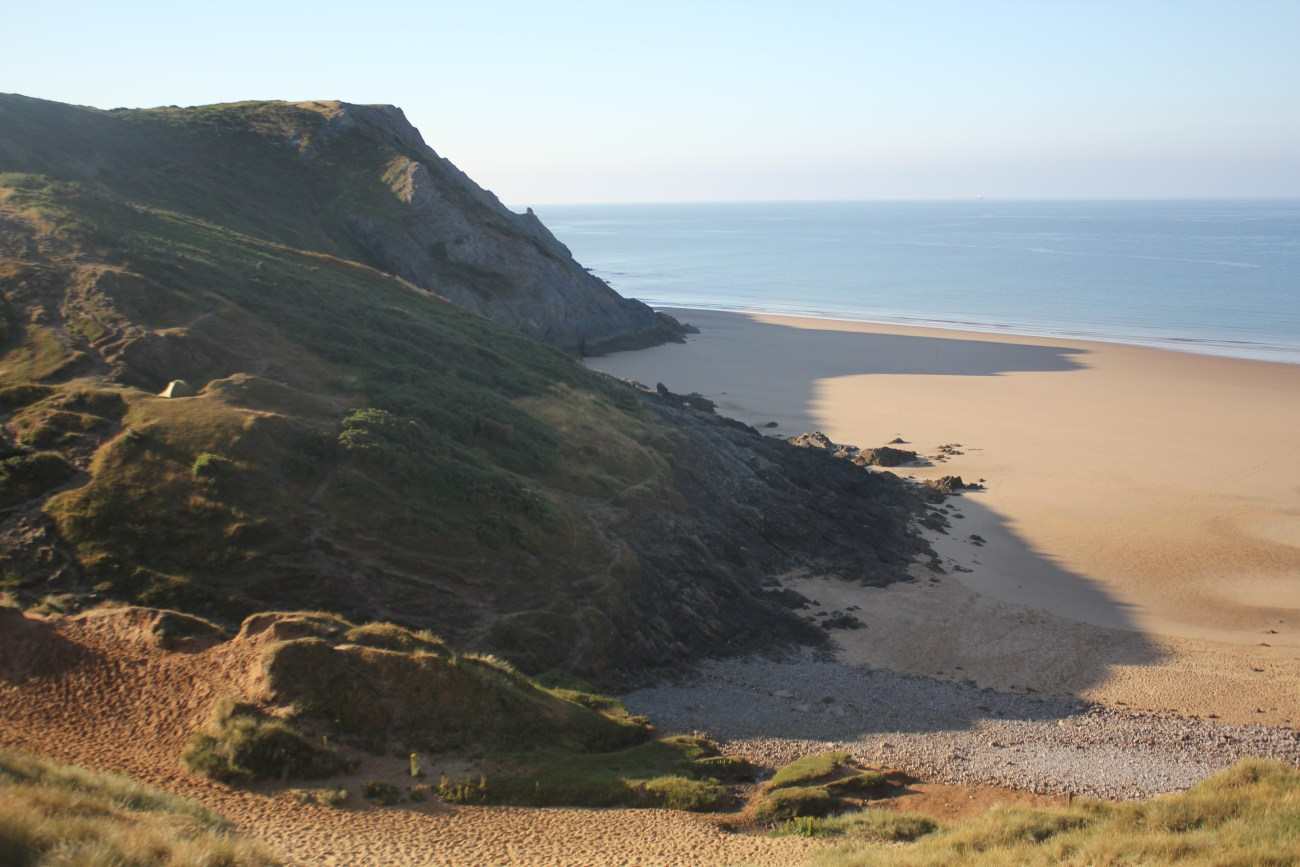 Pobbles Bay on Gower