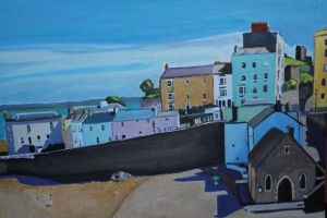 Painting of Tenby Beach