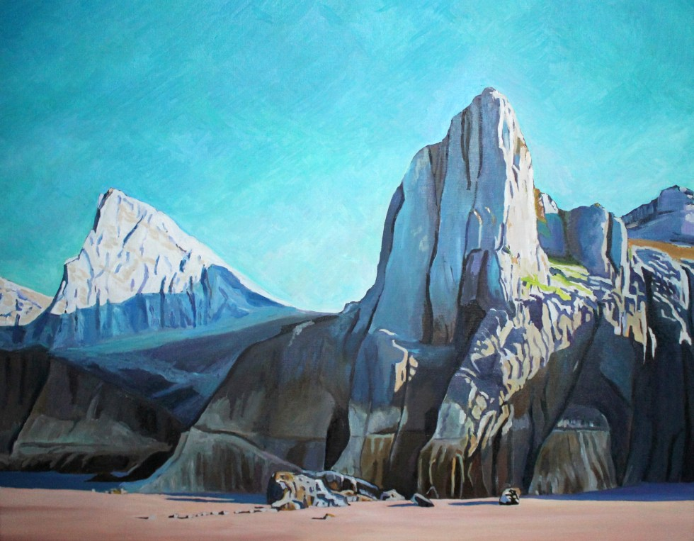 Oil painting Morning on Mewslade by Emma Cownie