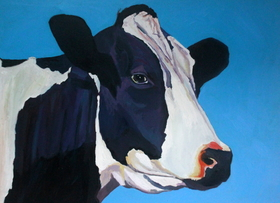 Painting of a cow