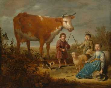1639_children_and_a_cow_2k
