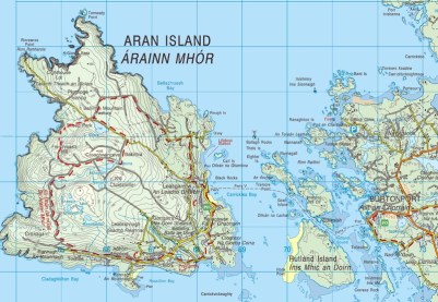Map of Arranmore, Ireland