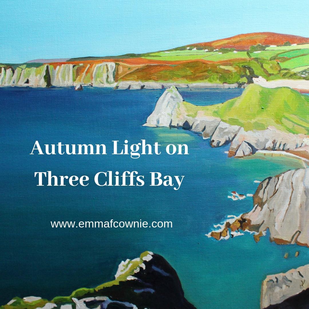Autumn Light on Three Cliffs Bay