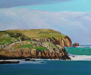 Painting of Donegal, landscape, Ireland.