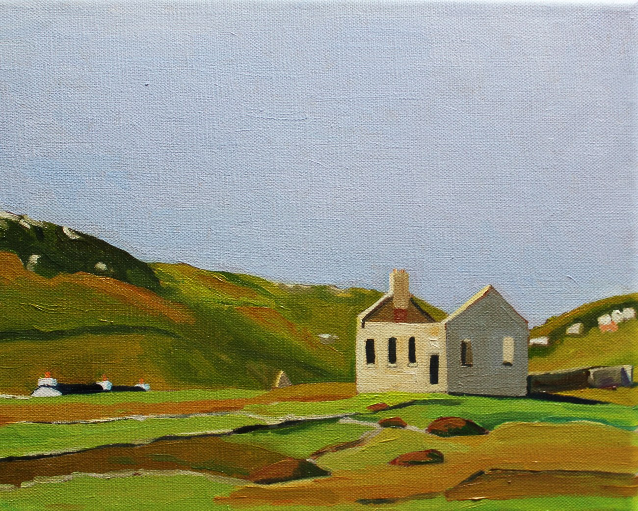 Painting of the old School, Owey Island, West Donegal