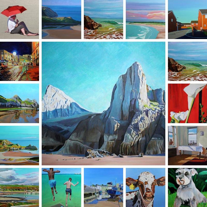 Oil paintings by Swansea artist Emma Cownie