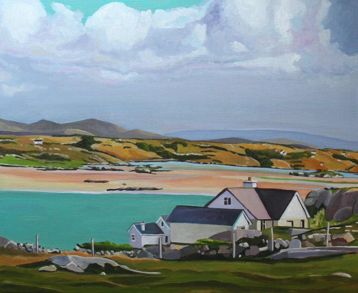 Landscape Painting of Island off Donegal, Ireland