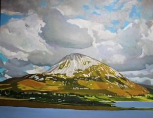 Painting of Irish landscape