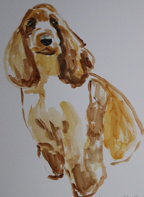 Painting of Spaniel