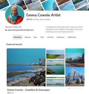 Emma Conie' Pinterest Page