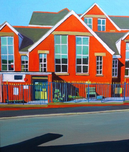 Painting of Brynmill Shool