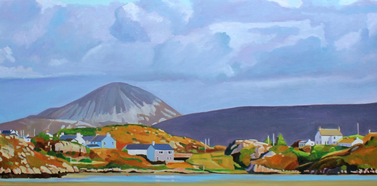 Painting of village in West Donegal
