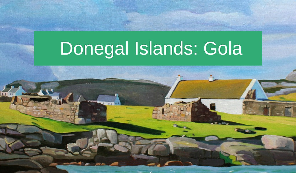 Paintings of Donegal, Gola, by emma Cownie
