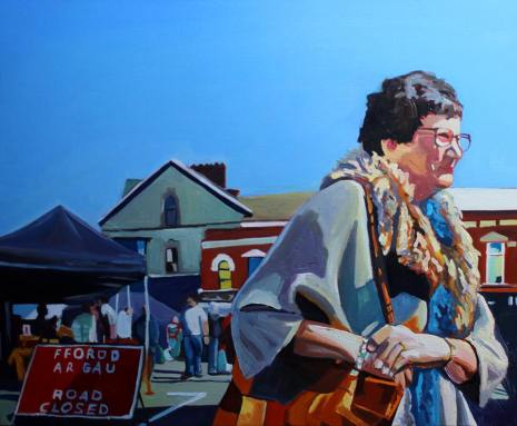 Painting of Swansea woman