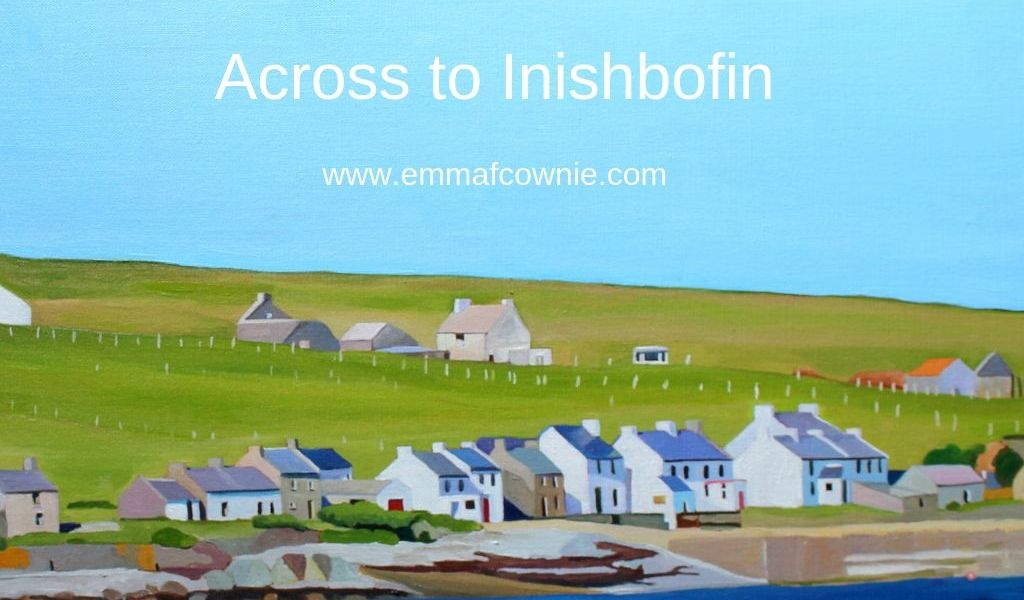 Painting of Donegal, Across to Inishbofin