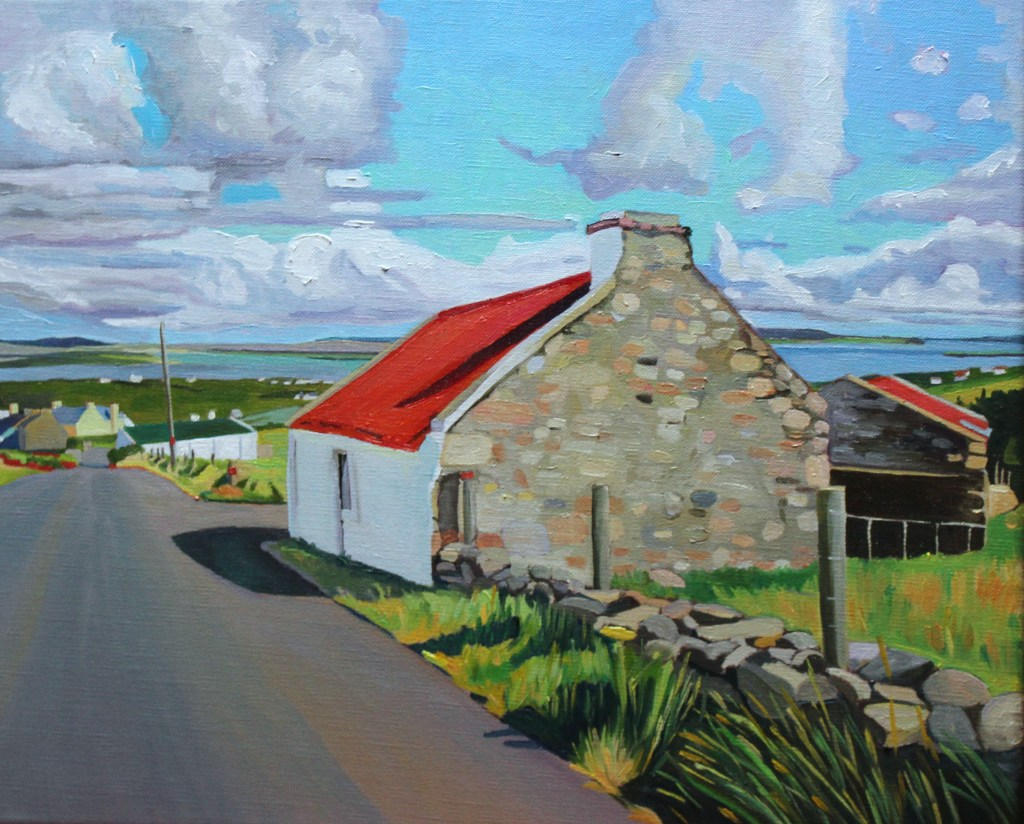 Donegal painting of house on Arranmore