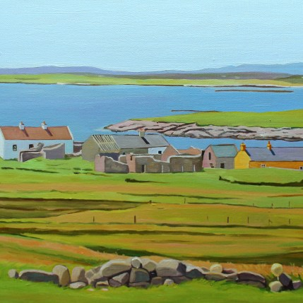 Donegal painting of Gola Island