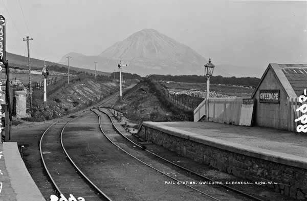 Gweedore train station (Mount Errigal in the distance)