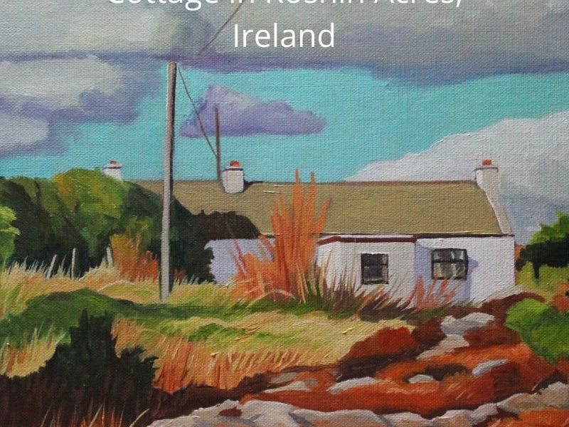 Painting of Irish landscape