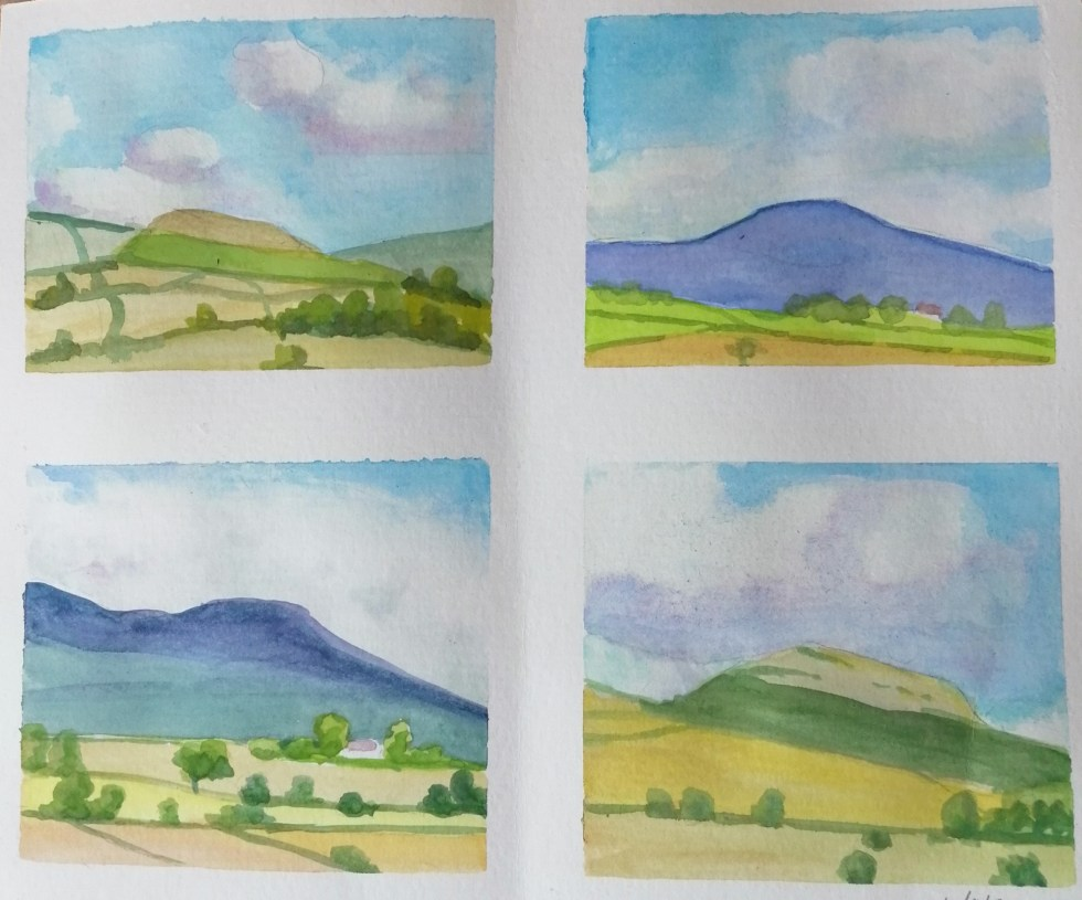 Four sketches of Table Moutain