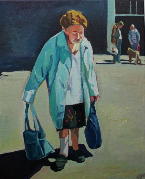 Painting Swansea people by Emma Cownie