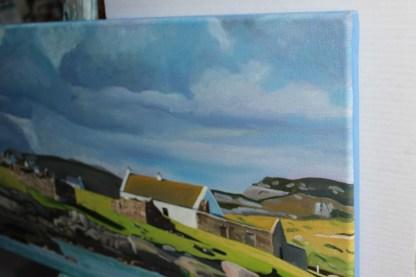 Painting of Spring Light on Gola, Ireland (edge)