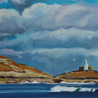 Mumbles Lighthouse From Bracelet Bay, Gower
