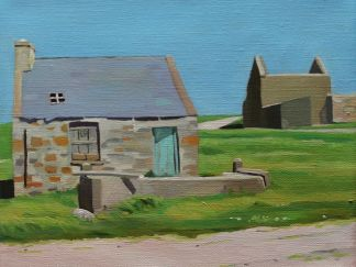 Painting of house on Gola, Donegal, Ireland