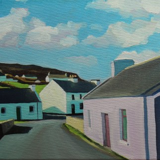 Painting od Donegal Village