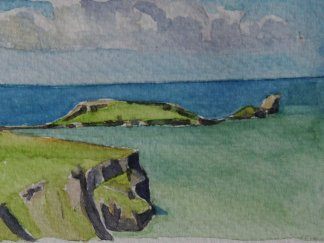 Worms Head Watercolour