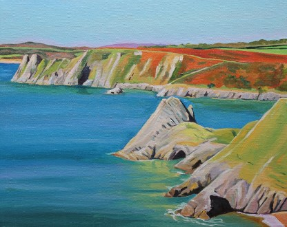 Reflections, Three Cliffs Bay, Gower Peninsula