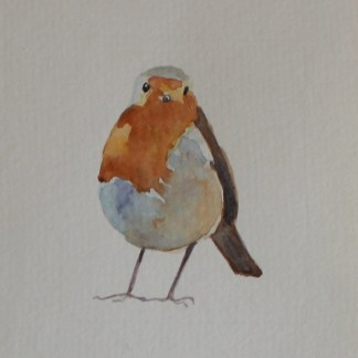 Robin Watercolour by Emma Cownie
