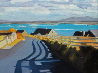 Painting of Arranmore lane, Ireland by Emma Cownie