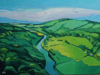 Painting of Symmonds Yat, Summer_Emma Cownie