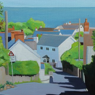 Painting of Port Eynon, Gower