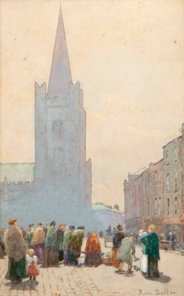Rose Barton RWS (1856 - 1929) St Patrick's Cathedral Watercolour, 27.5 x 18cm