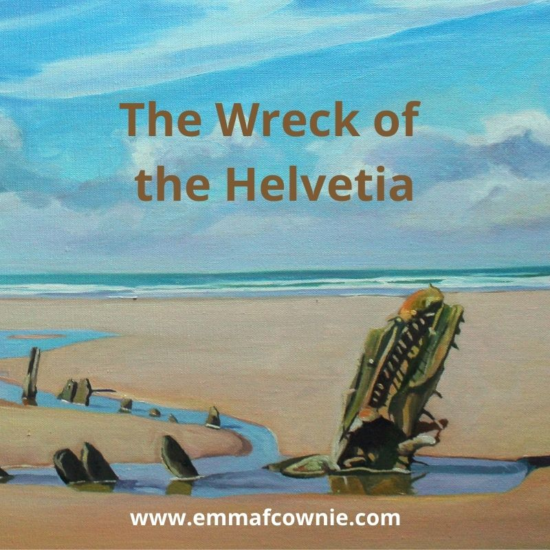 The Wreck of the Helvetia, Rhossili