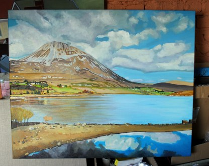 Errigal viewed from Dunlewy Loch, Ireland.