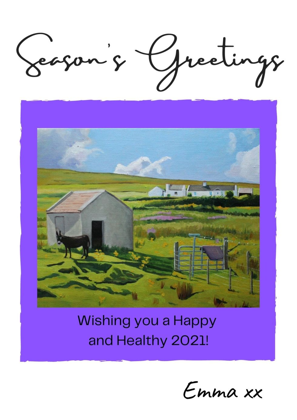 Season's Greetings from an Arranmore Donkey